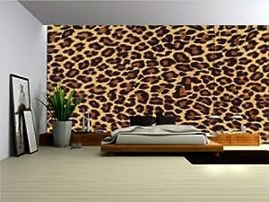 Wallpaper mural 39 39 leopard skin 39 39 fleece photo for Amazon mural wallpaper