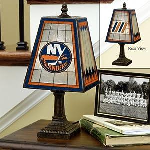 Buy New York Islanders Memory Company Art Glass Table Lamp NHL Hockey Fan Shop Sports Team Merchandise by Memory Company