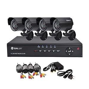 Beste Überwachungssysteme: SUNLUXY – 4 Kanal CCTV