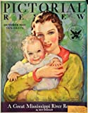 1933 Cover Pictorial Review Magazine October Mother Child Hester Miller NRA Logo - Original Cover