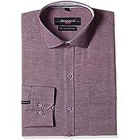 Dennison Men's Formal Shirt (AW-16-116_38_Maroon)