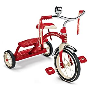 Amazon Com Radio Flyer Classic Red Dual Deck Tricycle