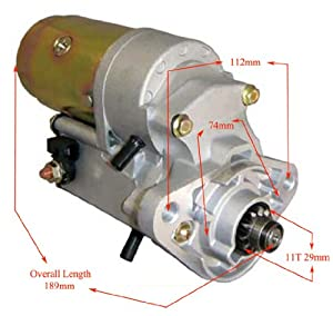 NEW AIRBOAT STARTER MOTOR CONTINENTAL LYCOMING 11T 2.0KW DENSO TOYOTA STYLE