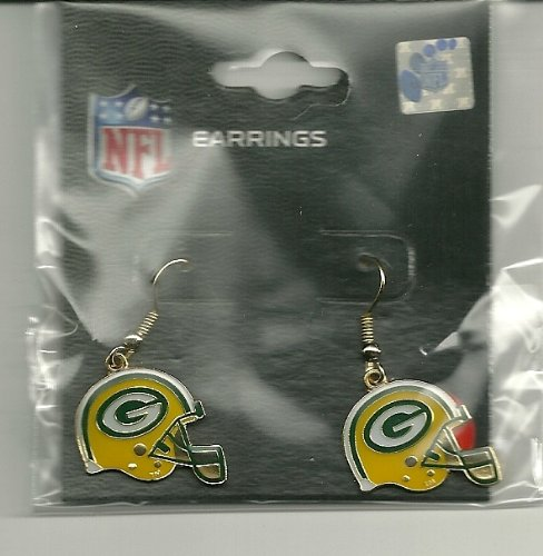 Green Bay Packers Helmet Dangle Earrings at Amazon.com