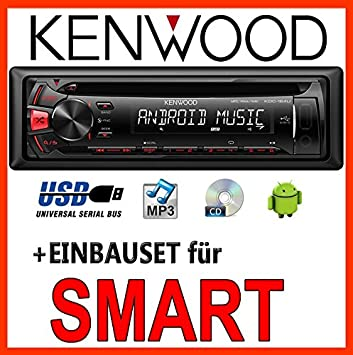 Smart 450-gris kenwood kDC - 164UR avec autoradio