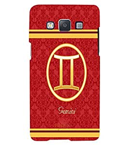 Fuson 3D Printed Sunsign Gemini Designer back case cover for Samsung Galaxy A5 - D4396