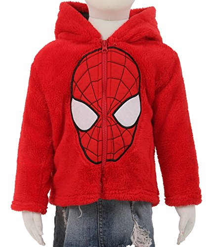 Marvel Little Boys Spider-Man Plush Zip Hoodie Jacket (3T) (Marvel Sweatshirt Kids compare prices)