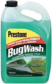 Prestone AS257-6PK Bug Wash Windshield Washer Fluid - 1 Gallon, (Pack of 6)
