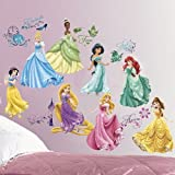(Set/36) Disney Princesses Wall Decal Set - Belle Cinderella Rapunzel & More