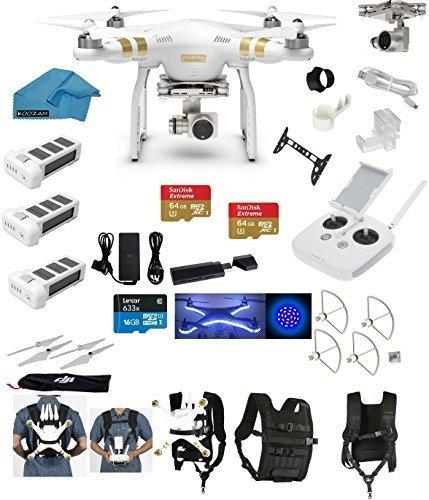 DJI Phantom 3 Professional (Pro) 4K Video Camera EVERYTHING YOU NEED Kit