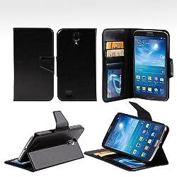 Bear Motion (TM) Premium Folio Case for Samsung Galaxy Mega 6.3 (i9200) - Black