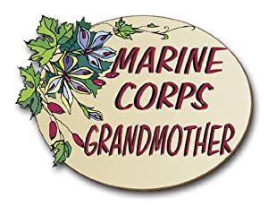 "US Marine Pride ""Marine Corps Grandmother"" Decal Sticker 3.8"""