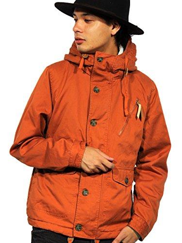 (エイト) 8(eight)10color 裏ボア マウンテンパーカー コットン ジャケット アウトドア XL オレンジ