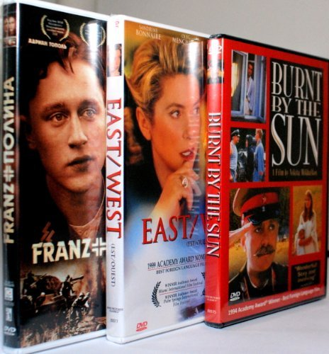 Great Movies About Stalin 'S Epoch [ Burnt By The Sun / East-West / Franz & Polina ][Set Of 3 Dvd][All Region/English Subtitles]