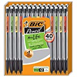BIC Xtra-Life Mechanical Pencil, Medium Point (0.7 mm), 40-Count (Color: Yellow,Orange,Lime Green,Blue,Red, Tamaño: 40-Count)