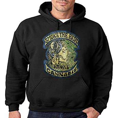 Vintage Weed Smoking Hoodie Smoke The Best Smoke Cannabis Mens Hooded Sweatshirt S-3XL