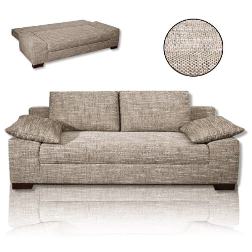 Roller schlafsofa schlafcoach cookie sand g stebett for Schlafsofa im test