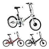【送料無料】通勤・通学・防災・災害・非常時にも使える♪『サンヨー 電動ハイブリッド自転車エネループバイク(折りたたみ式)』20インチ ブラック(163Y-2C)