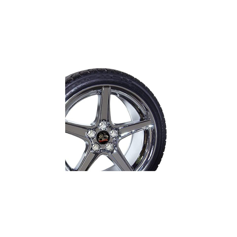 18 Fits Mustang (R) Saleen Style Wheels tires   Chrome 18x9