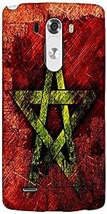 Snoogg Star Grunge Designer Protective Back Case Cover For LG G3