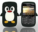 THS5Star black Penguin Style Case Back Cover for Blackberry Curve 8520 8530 9300 3G BB smartphone Cover Case Silicone Skin, New Cute Penguin Series- Studio Lars-Peter Neu (TM)