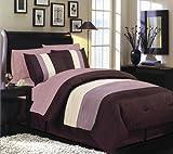 Manhattan Heights Pintuck 8-Piece Queen Bedding Suite, Purple