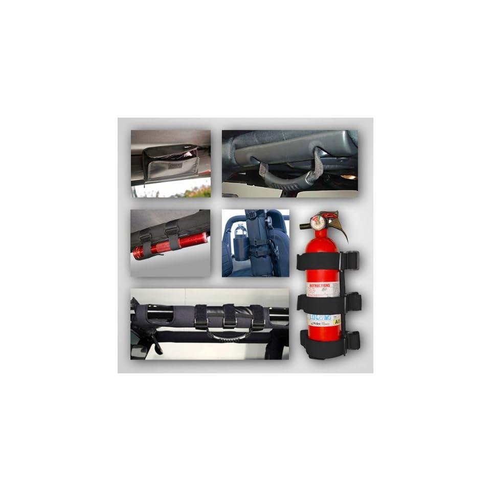 Black Interior Roll Bar Trim Kit For Jeep Wrangler Jk 07 11 9 Piece
