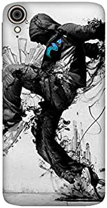 The Racoon Lean printed designer hard back mobile phone case cover for HTC Desire 828. (Stomp)