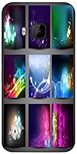 Snoogg Creative Abstract Background Set Designer Protective Back Case Cover For HTC M9