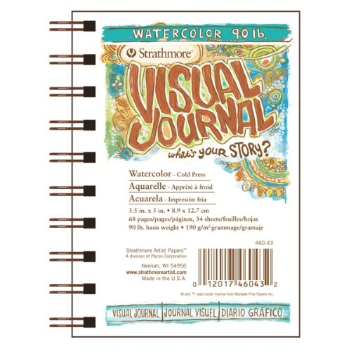 Strathmore Visual Journal- 90lb Cold Press Watercolor Paper 3.5x5 Inch