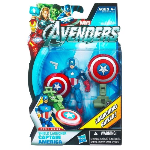 Marvel Avengers Movie 4 Inch Action Figure Shield Launcher Captain America - 1