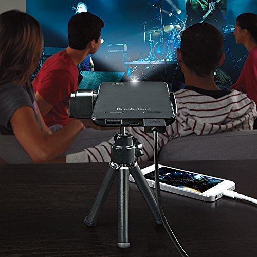 Brookstone pocket projector slim office store for Brookstone pocket projector micro