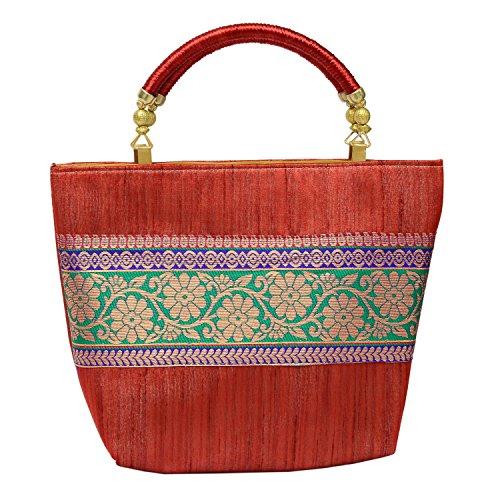 Bagaholics-Ethnic-HandBag-Ladies-Purse-Silk-Brocade-Clutch-Rakhi-Gift-for-Women