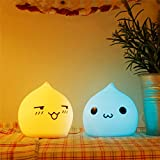 Adorable Water Drop Colorful Silicone LED Table Lamp Night Light for Bedroom Decoration