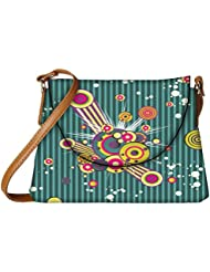 Snoogg Colorful Pattern Amazed Designer Womens Carry Around Sling Bags - B01I1DA97G