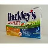 BUCKLEY'S COMPLETE 24 Liquid Gels With MUCUS RELIEF Day/Night