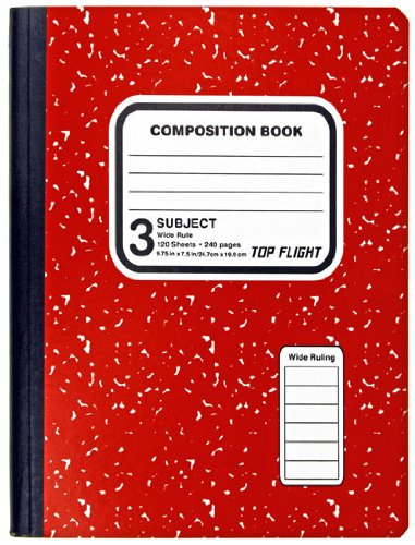 Best Book Cover Colors ~ Top flight subject colored marble composition book