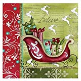 C.R. Gibson 20 Count Lunch Napkins, Joy of Christmas