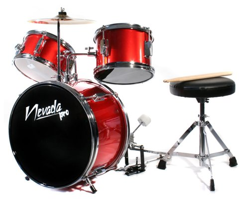 Music Alley Junior Drum Kit - Red