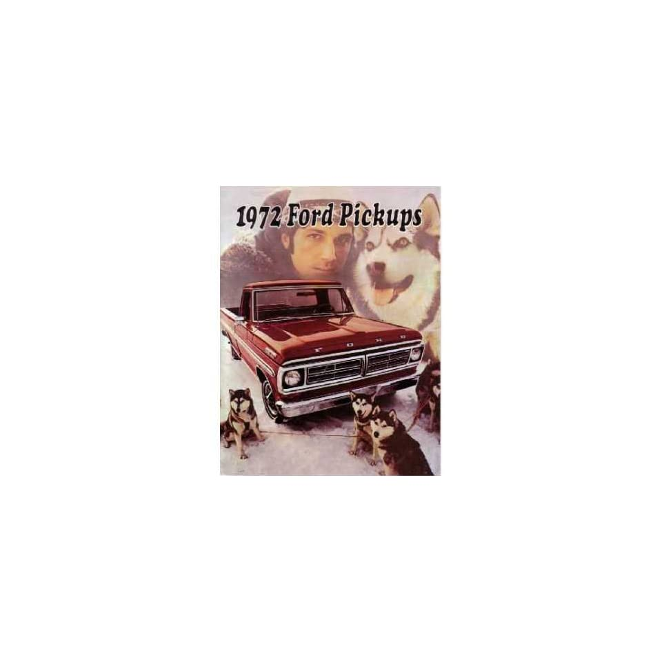 1972 FORD PICKUP Sales Brochure Literature Book Piece