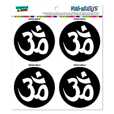 Om Aum Yoga-Namaste MAG NEATO'S (TM) Automotive Auto Locker Kühlschrank Vinyl-teiliges Magnet Set