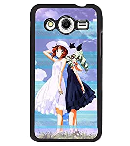 Fuson 2D Printed Girly Designer back case cover for Samsung Galaxy Core 2 - D4596