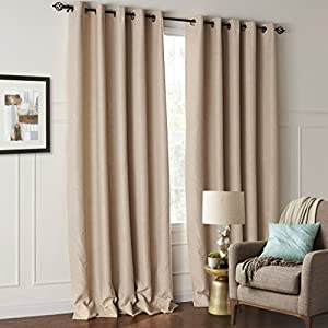 Minimalist Outdoor Contemporary Curtains IYUEGOU Modern Minimalist Solid Embossed Blackout Grommet Top Curtain With Mu