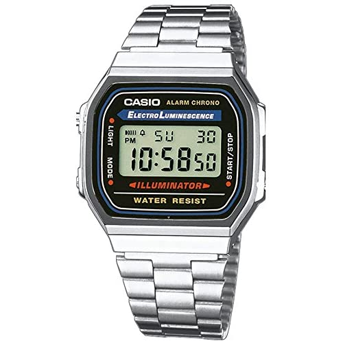 Casio Unisex Stainless Steel Quartz Watch A168WA-1Y