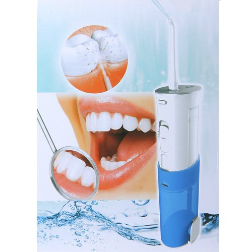 Yasi Rechargeable Oral Irrigator Dental Gum Care Water Jet Flosser Waterproof Us Plug (Blue)