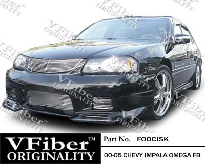 Chevrolet Impala 00-05 4dr VFiber PURE-FRP Omega 4-piece Body Kit Perfomance Front & Rear bumper cover plus side skirts 2000,2001,2002,2003,2004,2005