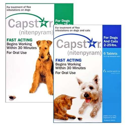Capstar Dogs & Cats Blue 2-25lbs 6 pk Flea Treatment (Capstar Flea Control compare prices)