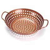 Outset QN70 Round Copper Nonstick Grill Wok