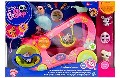 Littlest Petshop - Paw Powered Cruiser / La Voiture des Petshop - incl. Souris et 3 Petshop exclusiv
