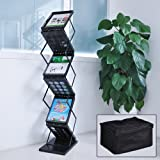 Yescom Portable Pop Up 6 Pocket Literature Rack Stand with Carrying Bag Black